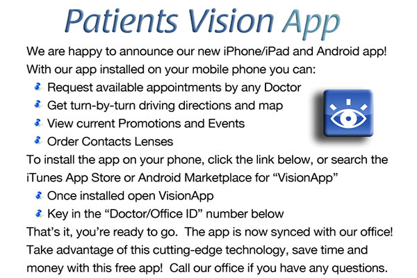 The link to download Vision App